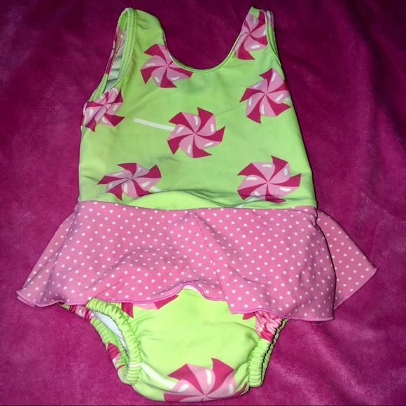 Old Navy Girls 2-Piece Ruffle Cross-Back Tankini Sizes  12-18 Months And 2T NWT